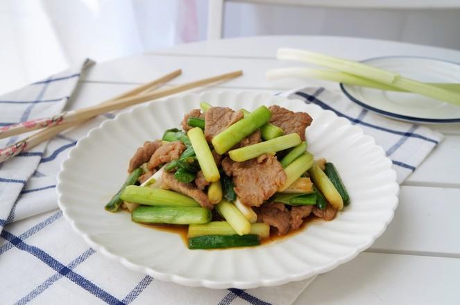 蒜苗炒肉怎么煮