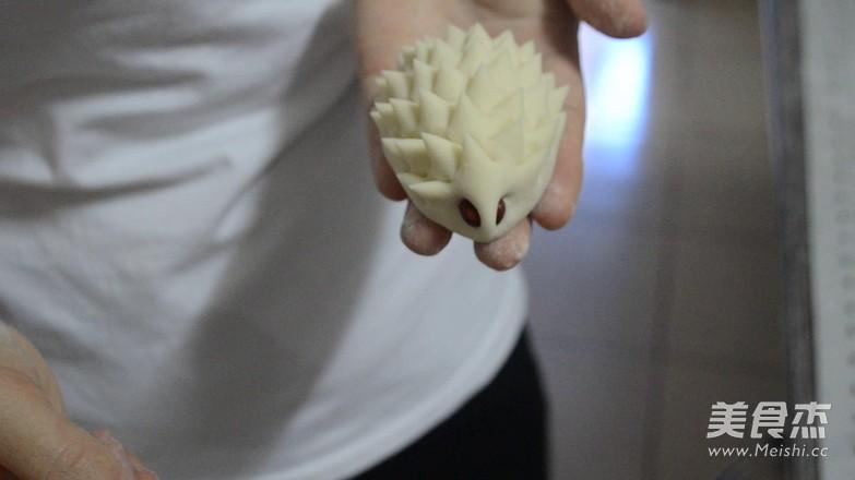 刺猬馒头的制作