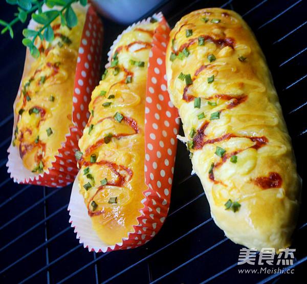 火腿芝士香葱面包的做法大全