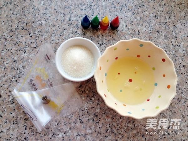 彩虹蛋白糖的做法大全