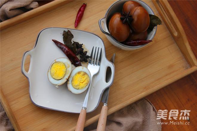 五香卤鸡蛋成品图