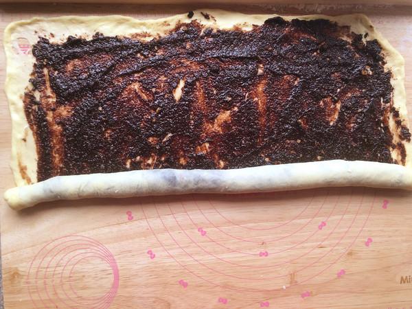 巧克力核桃面包的制作