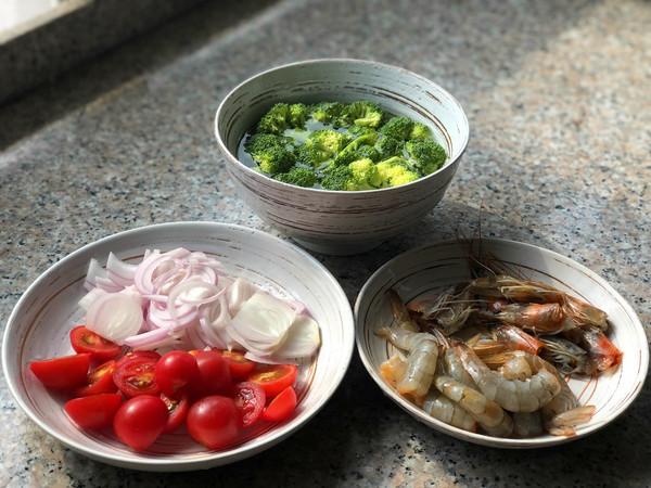 鲜虾意面的简单做法