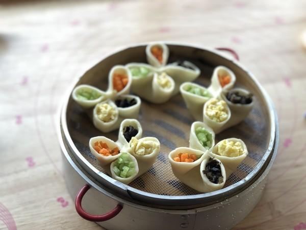 四喜蒸饺的步骤