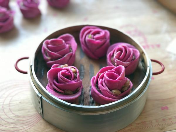 玫瑰蒸饺的步骤