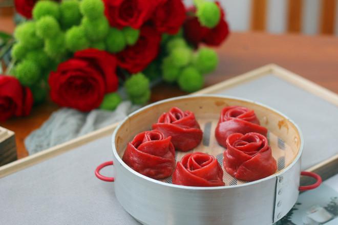 玫瑰蒸饺成品图