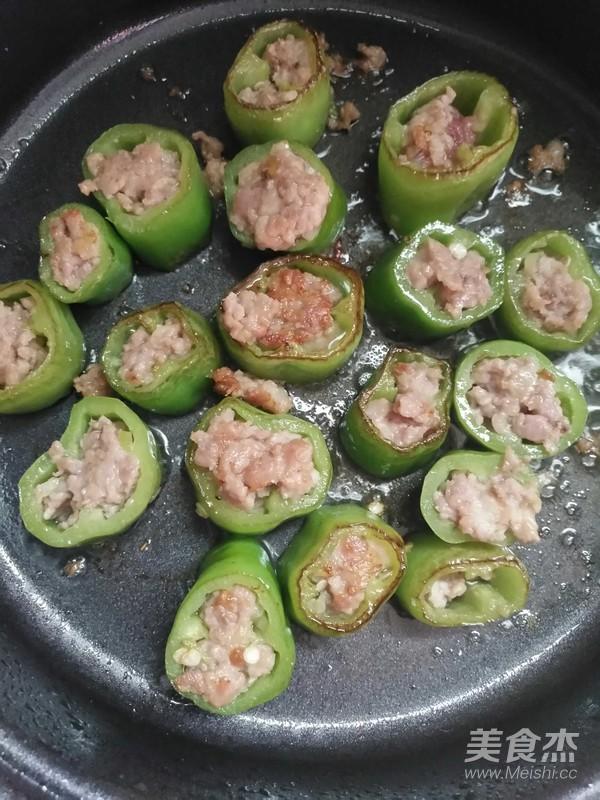 尖椒酿肉的简单做法