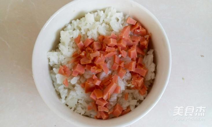 火腿鸡蛋米饼的做法图解