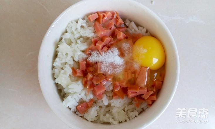 火腿鸡蛋米饼的家常做法