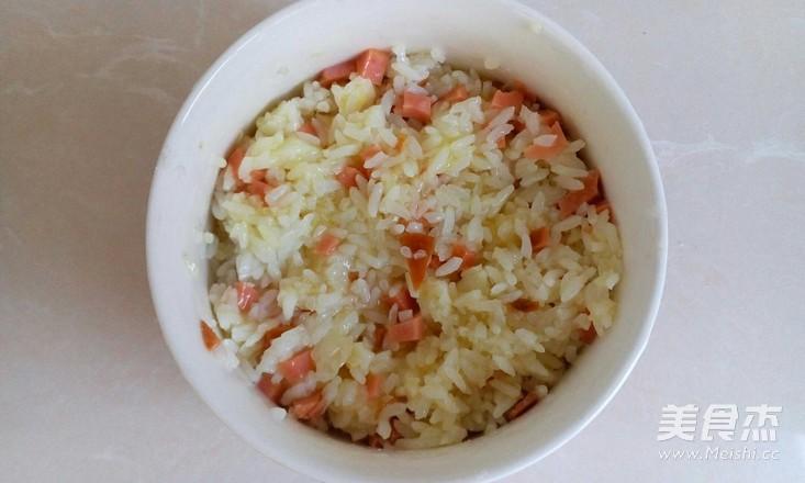 火腿鸡蛋米饼的简单做法