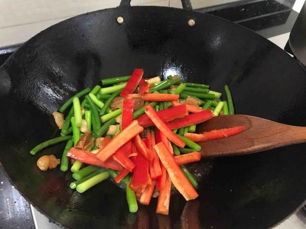蒜苔(苗)炒腊肉怎么煮
