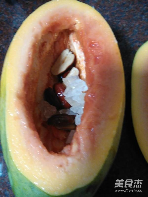 木瓜炖雪蛤怎么吃