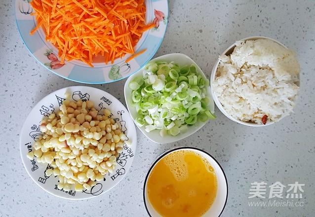 鸡蛋胡萝卜玉米粒炒米饭的做法大全