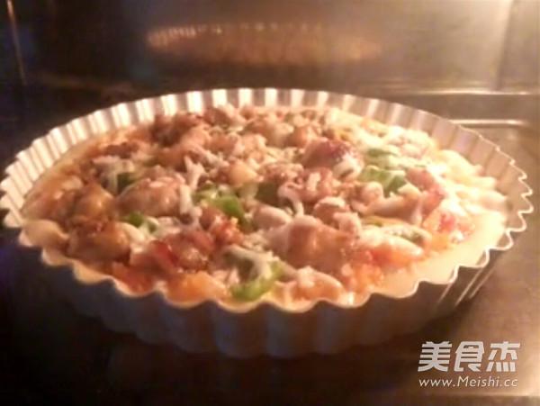 黑椒鸡肉披萨的做法大全
