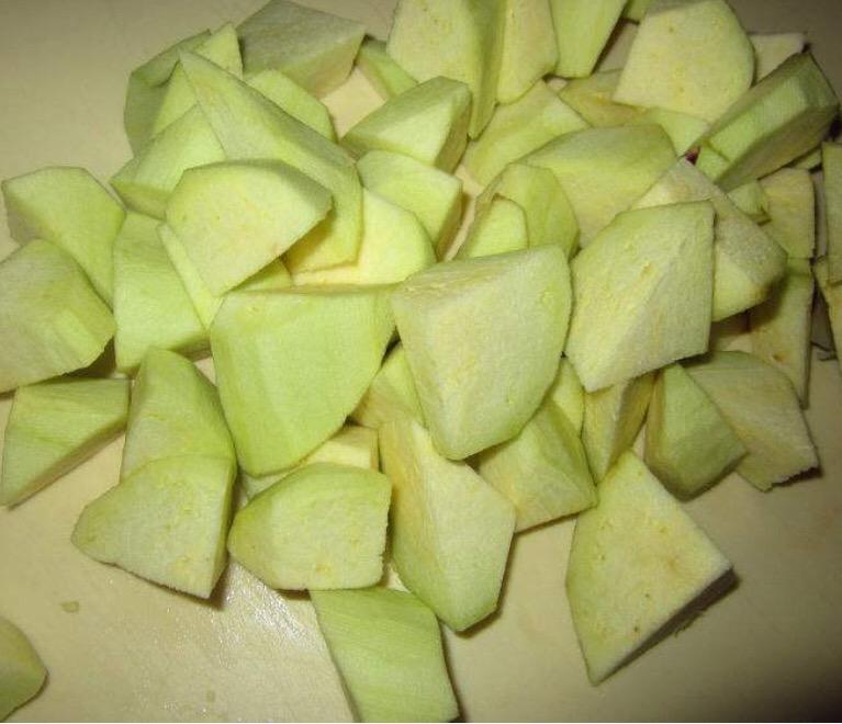 下饭菜-茄子土豆五花肉炖粉条的做法图解