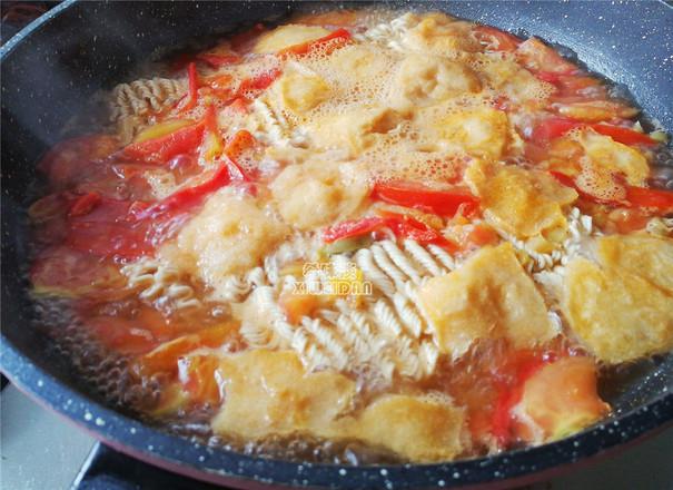 番茄鸡蛋榨菜面怎么吃