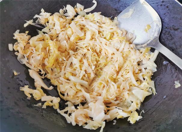 酸辣包菜米面的步骤