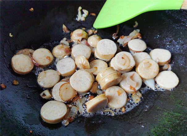 肠菇拌面的家常做法