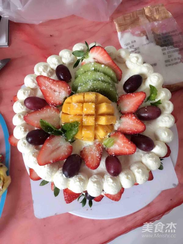 红丝绒裸蛋糕成品图