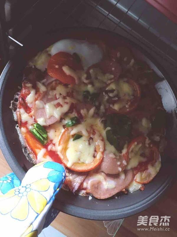 自制香肠蔬菜披萨的简单做法