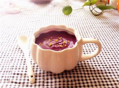 紫薯牛奶桂花羹怎么炖