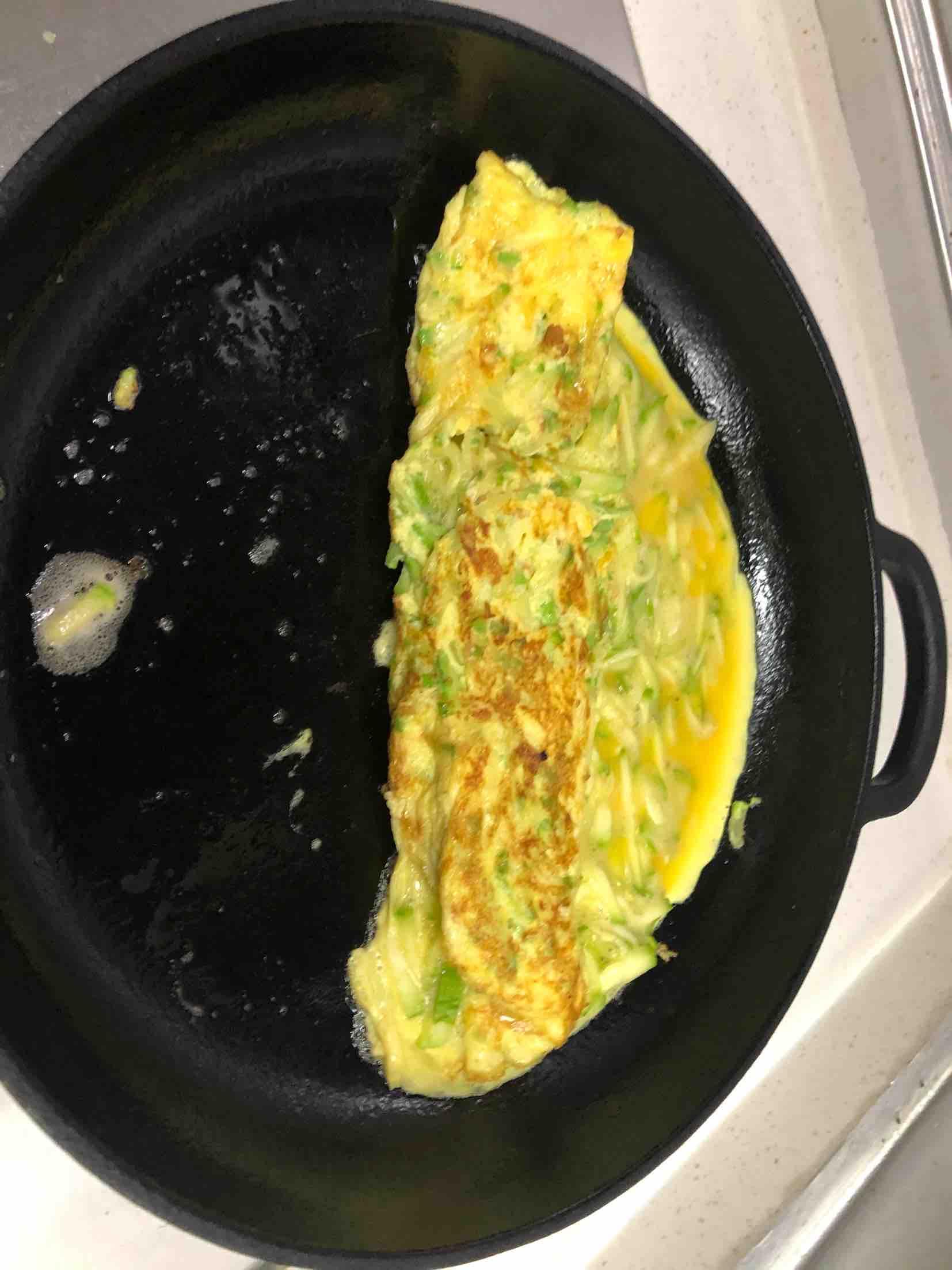 西葫芦鸡蛋卷怎么吃