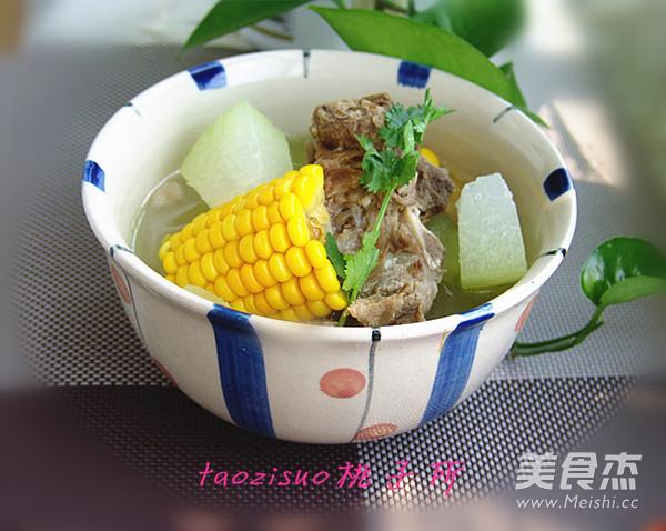 龙骨玉米冬瓜煲成品图