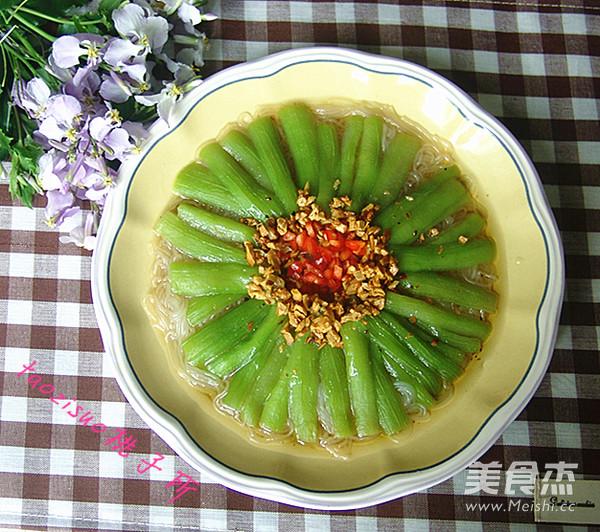 金蒜粉丝蒸丝瓜怎么煮