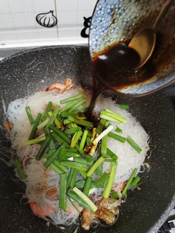 鲜虾粉丝煲怎样煸