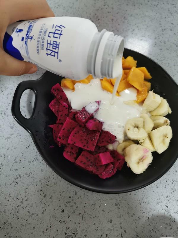 松子酸奶水果捞怎么做