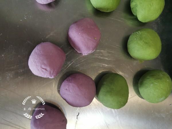 紫薯菠菜多肉馒头的家常做法