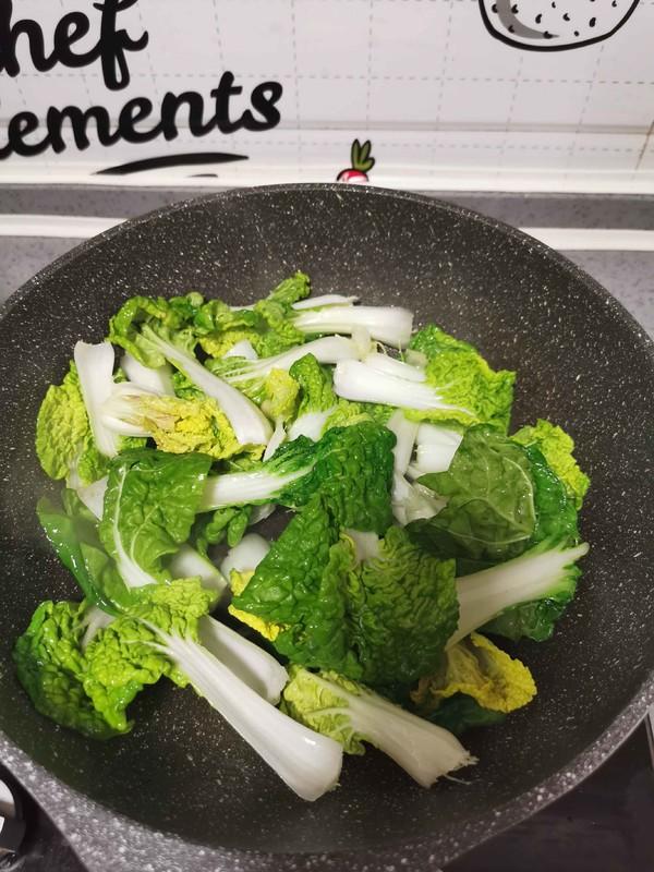 小油菜炒虾皮的家常做法