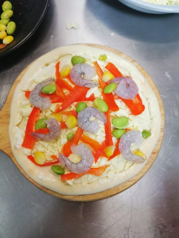虾仁芝士披萨的简单做法