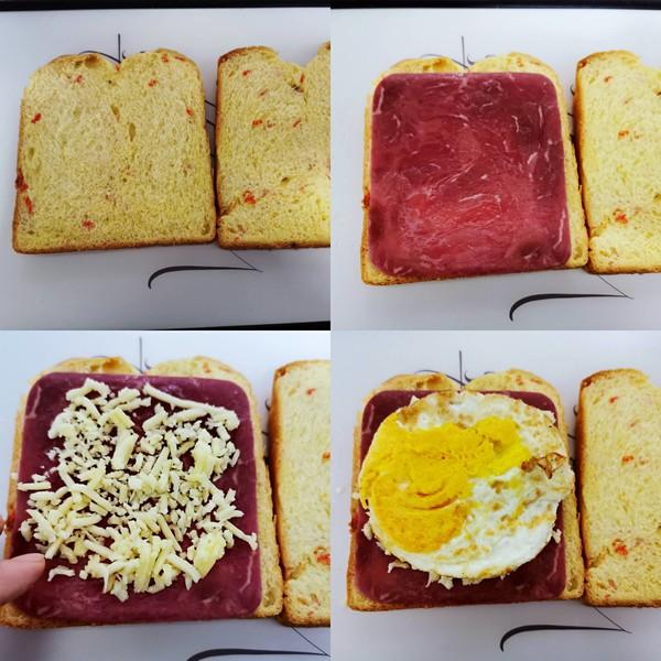 火腿鸡蛋芝士三明治的家常做法