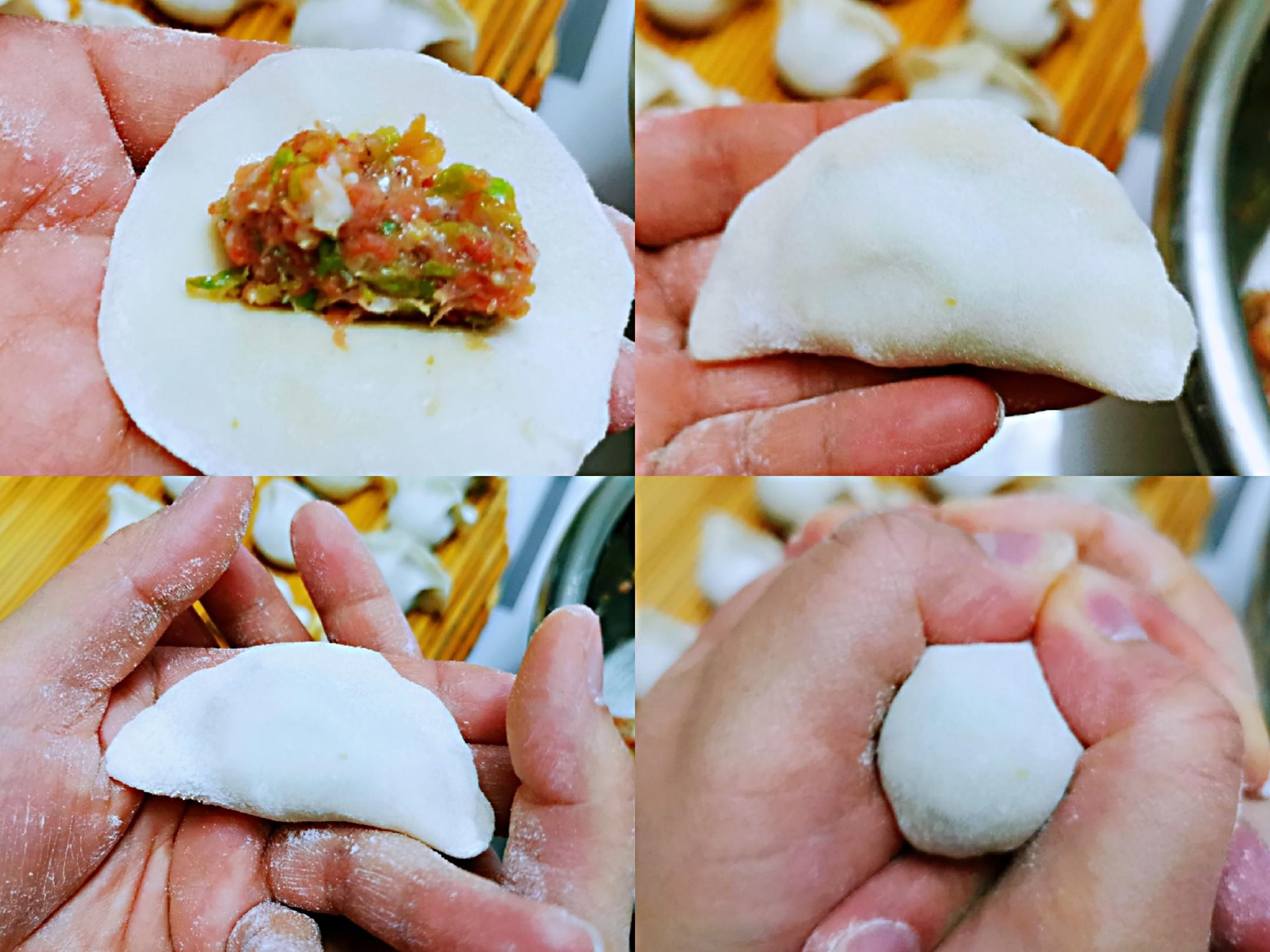 豆角红萝卜肉饺子的步骤