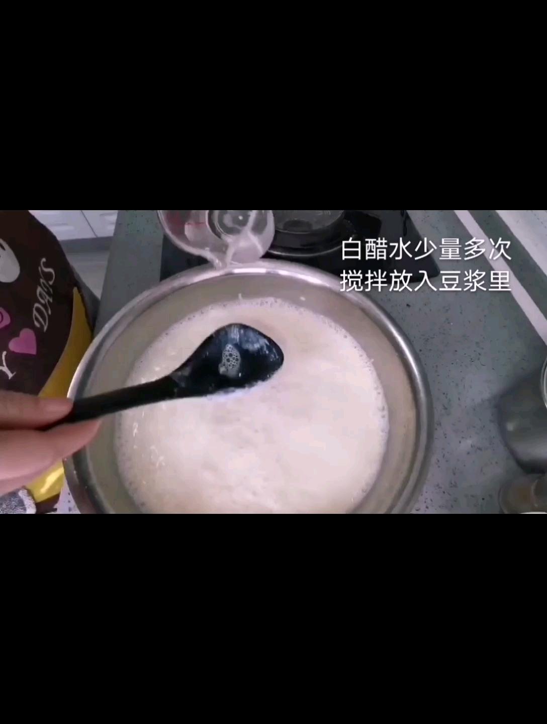 白醋点豆腐怎么做