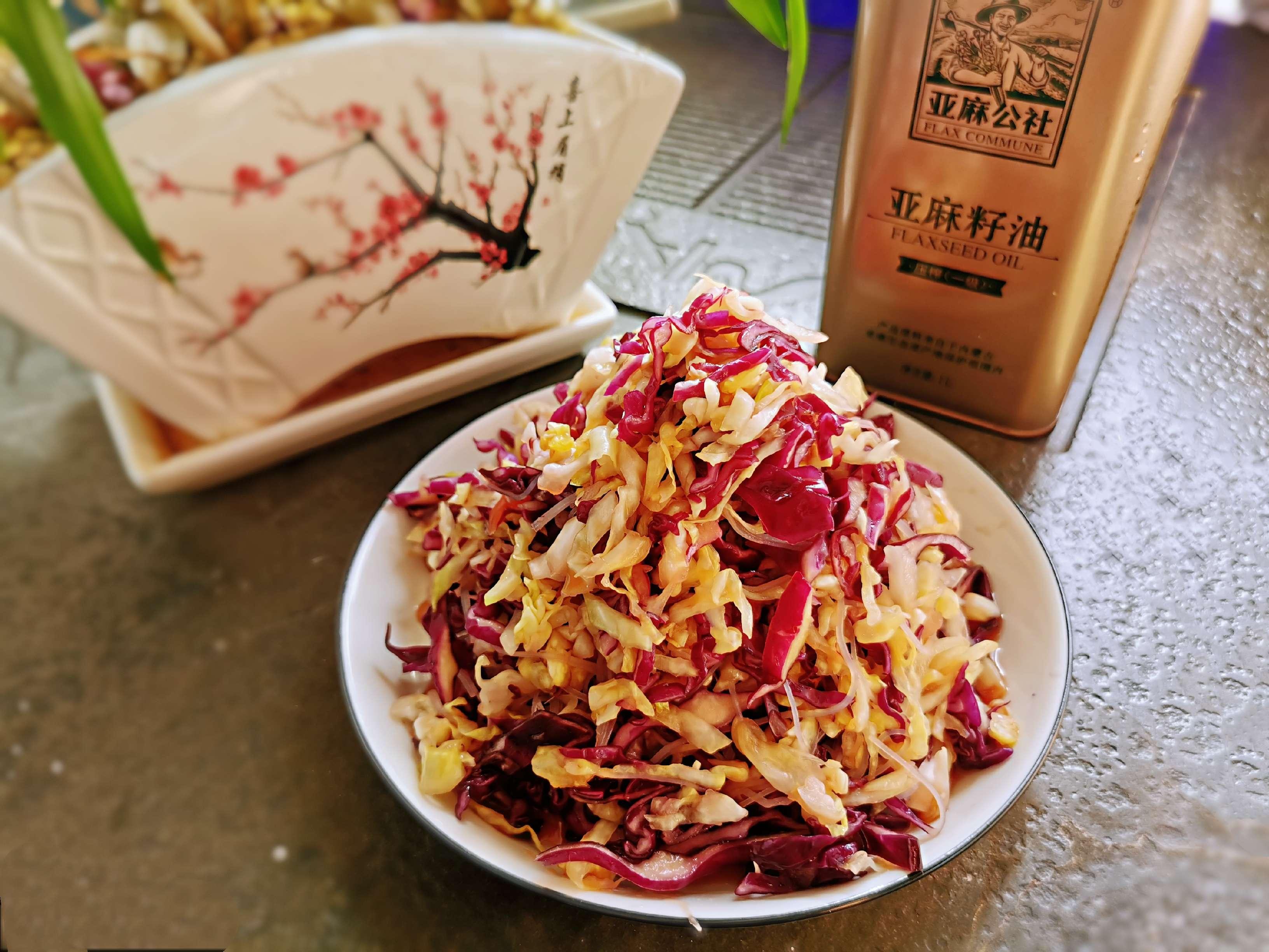 饱腹感极强的减脂菜:凉拌三丝成品图