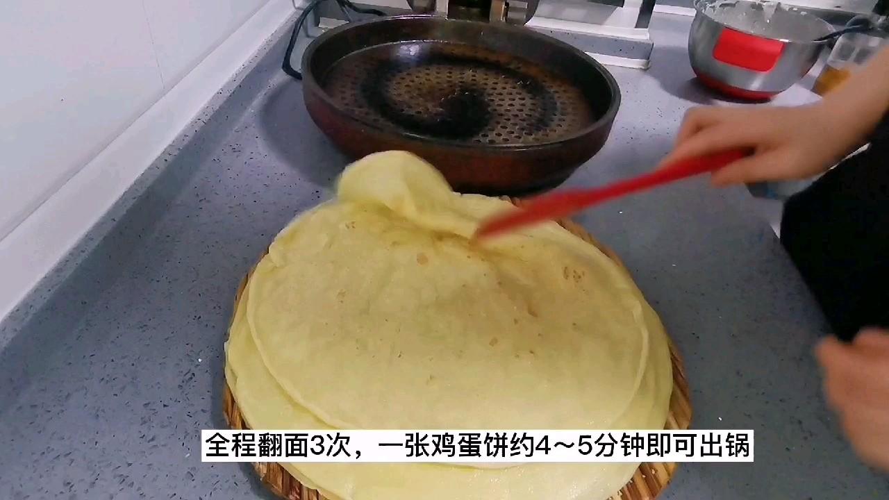 软嫩鸡蛋饼,面粉与水的比例是关键,经验更重要怎么炒