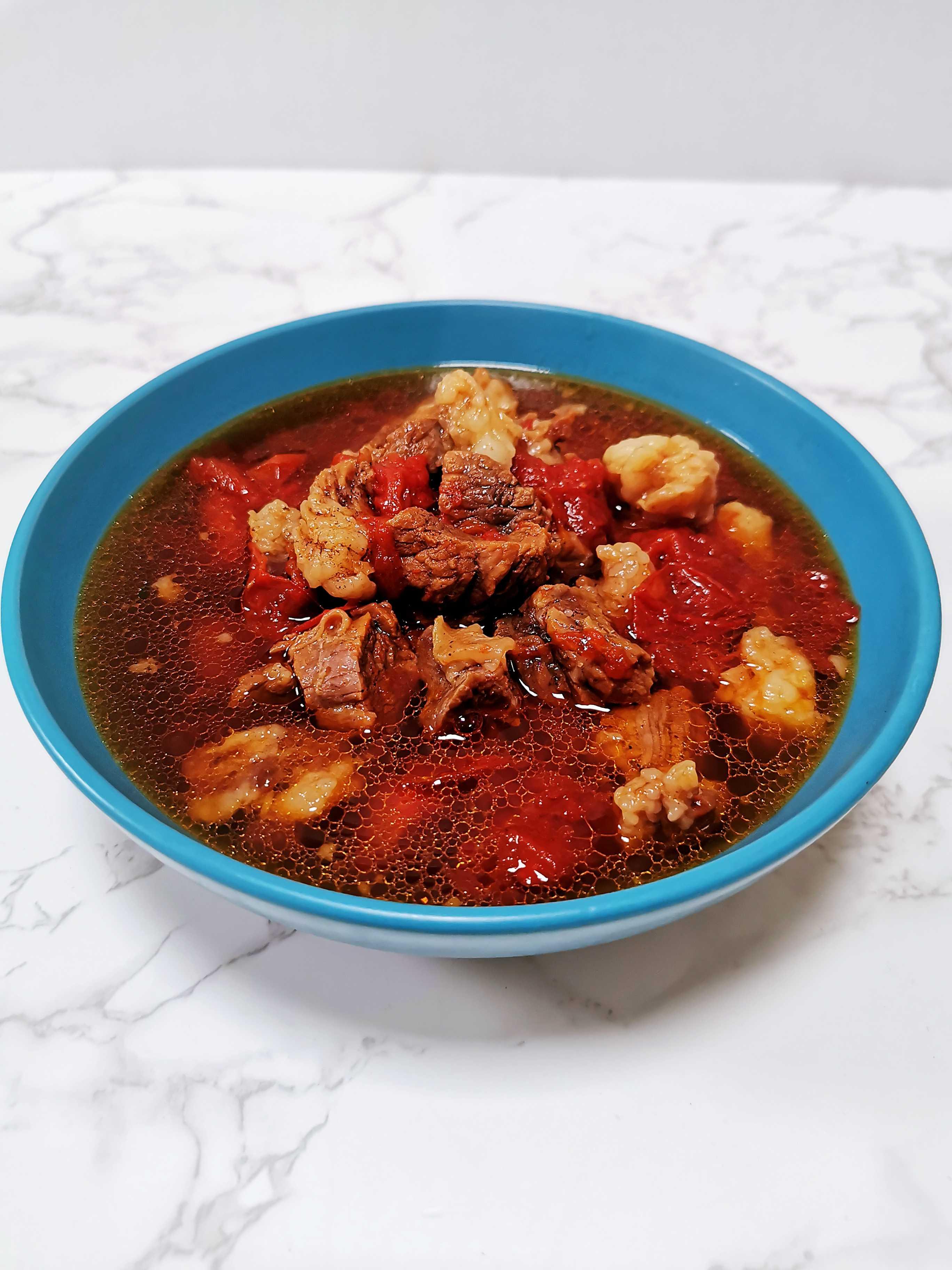 不加一滴水做出来的西红柿炖牛肉,保证汤汁你都要喝光成品图