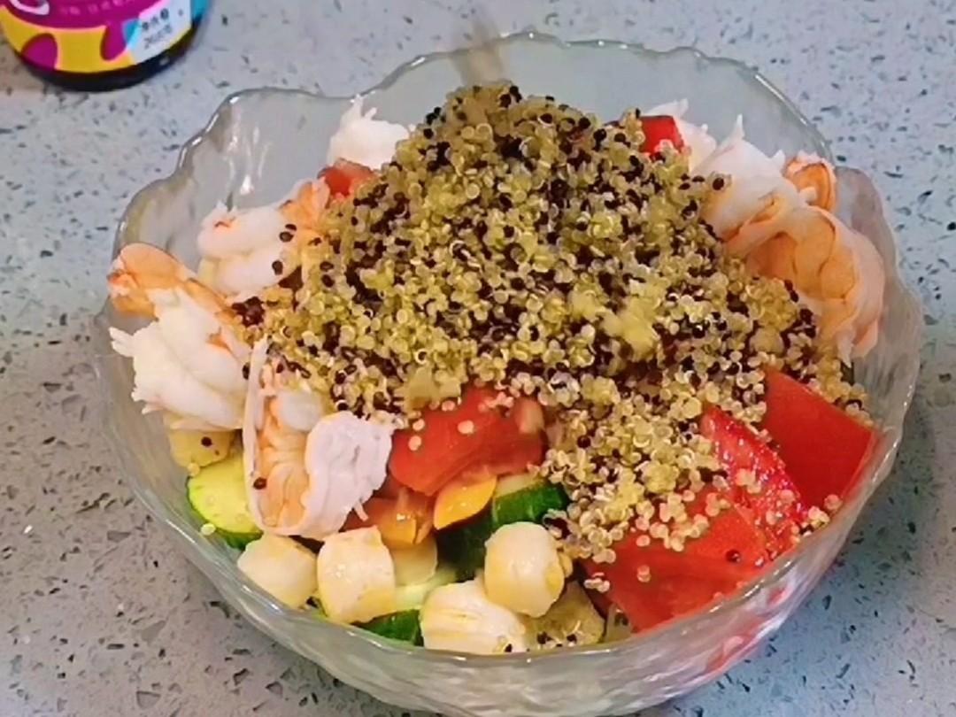 轻食减脂藜麦海鲜沙拉,送给爱美的你怎么做