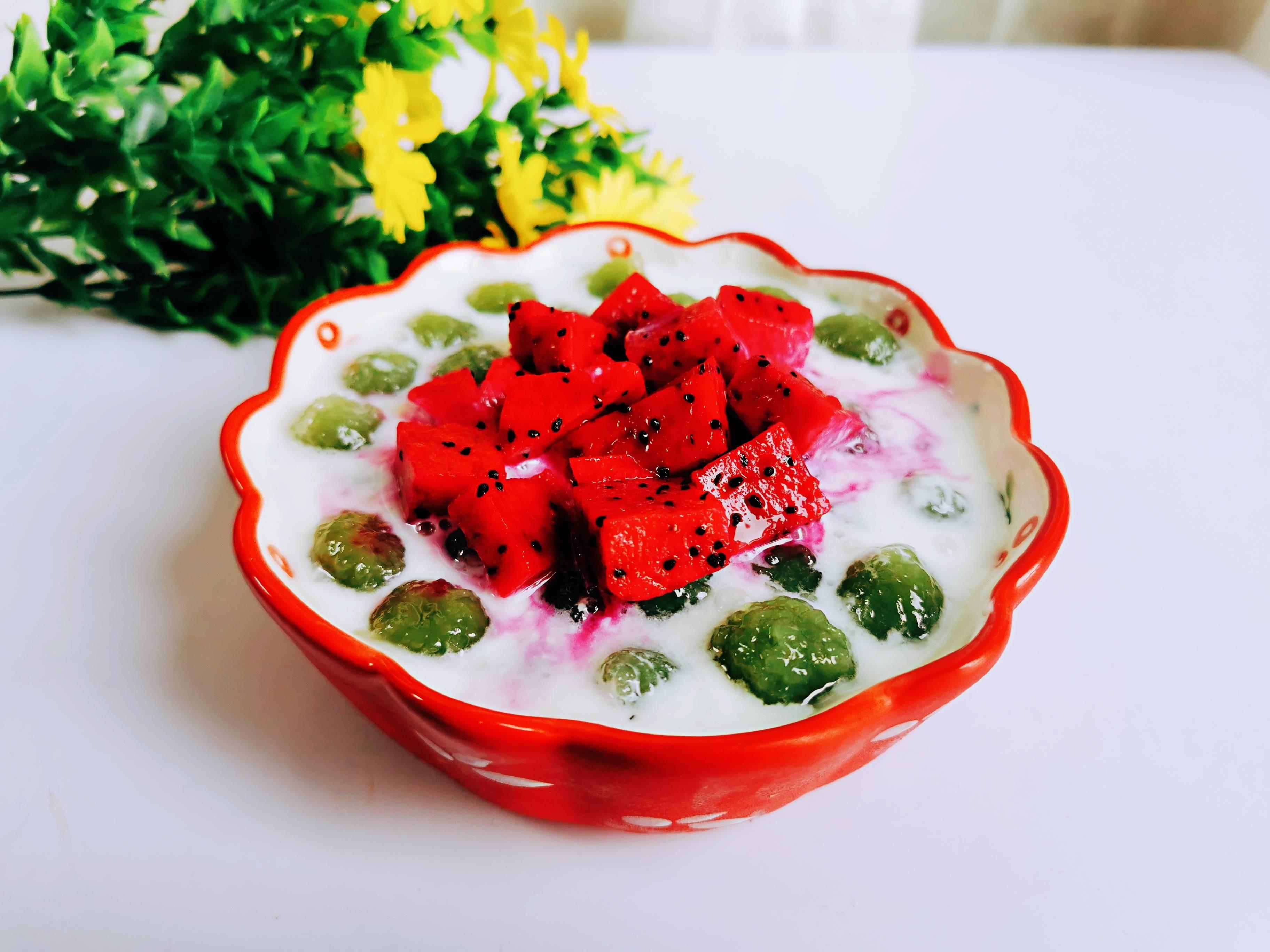 夏日必备降温甜品:酸奶冰沙啵啵,吃一份不够哦成品图