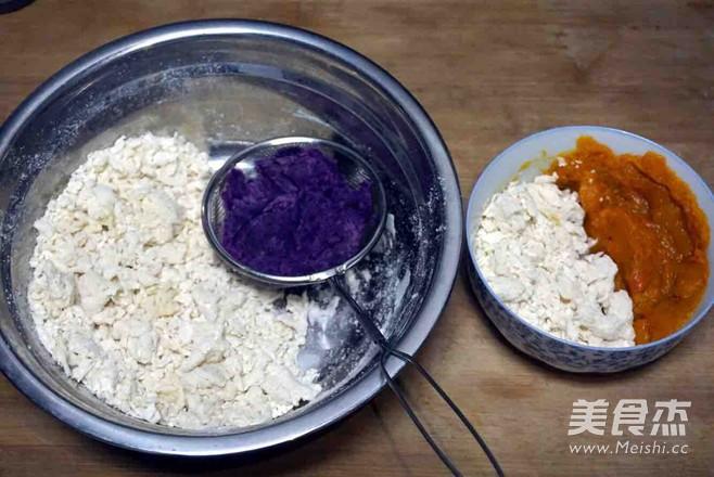 紫薯南瓜菠菜馒头的家常做法