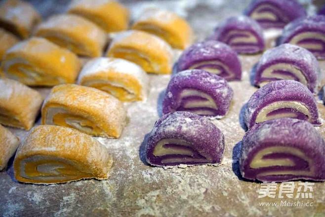 紫薯南瓜菠菜馒头怎么做
