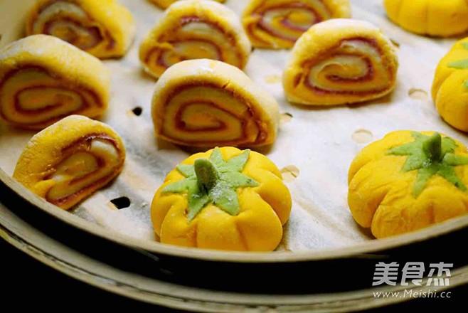 紫薯南瓜菠菜馒头怎么煮