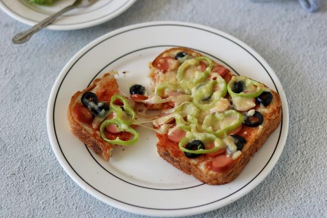 吐司披萨成品图