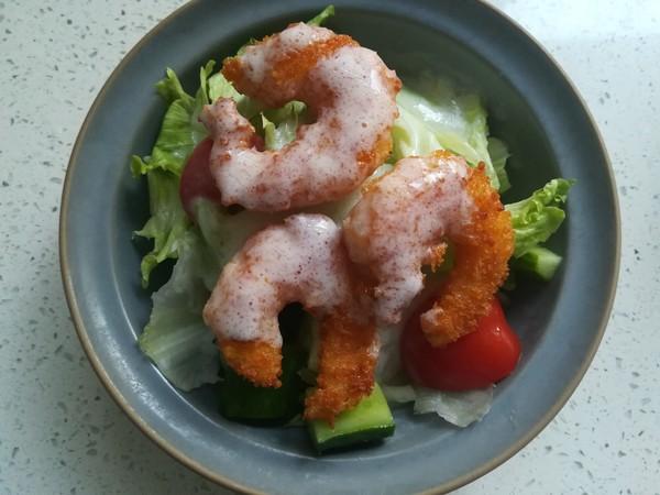 炸虾沙拉的步骤