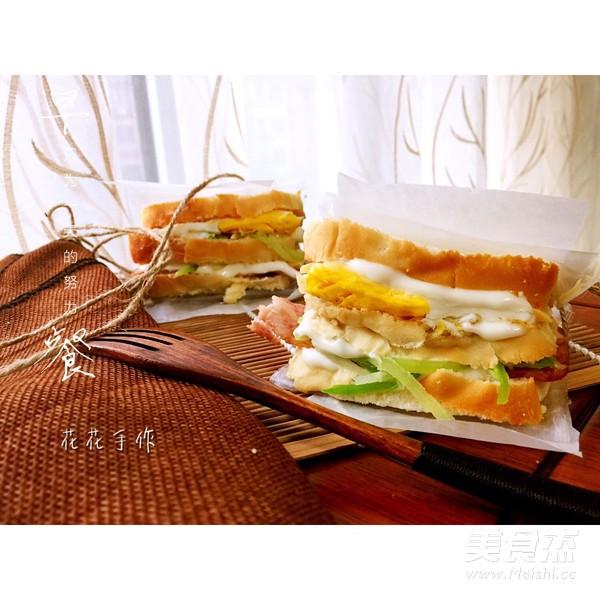 快手早餐三明治怎么煸