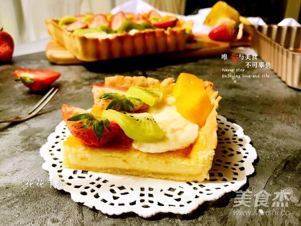 奶酪水果派成品图