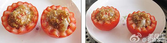 粉蒸番茄虾的步骤