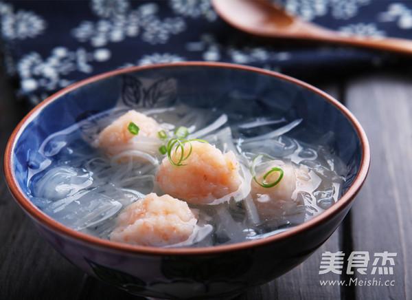 虾丸萝卜汤成品图